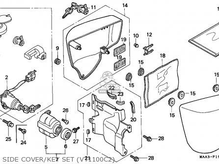 Honda VT1100C2 SHADOW 1995 (S) CANADA / RBM parts lists