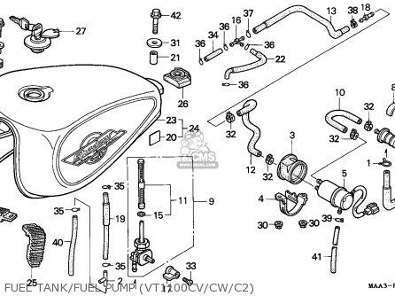 Honda VT1100C2 SHADOW 1995 (S) FRANCE parts lists and
