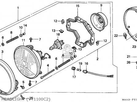 Honda Vt1100c2 Shadow 1995 Spain parts list partsmanual