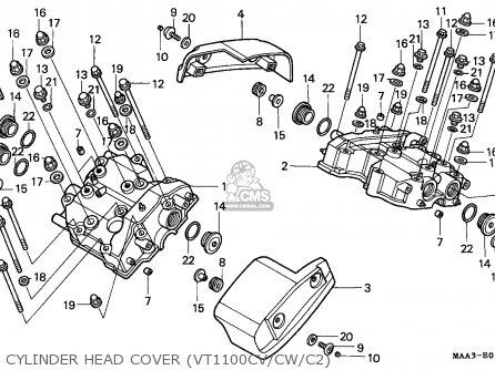 Honda Vt1100c2 Shadow 1996 France parts list partsmanual