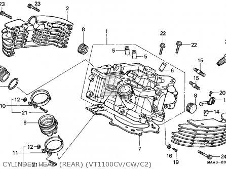 Honda VT1100C2 SHADOW 1996 (T) AUSTRIA / ASV parts lists