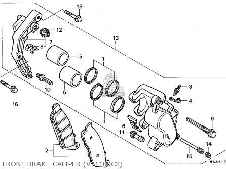 Honda Vt1100c2 Shadow 1996 (t) European Direct Sales parts