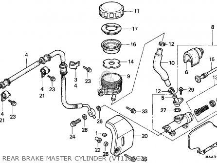 Honda Vt1100c2 Shadow 1996 (t) Germany parts list