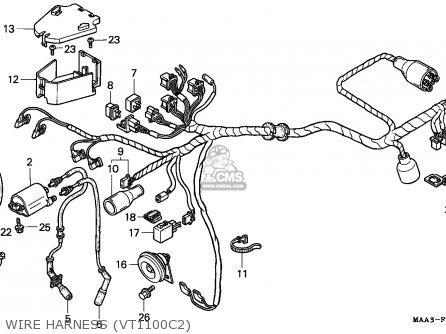 Honda VT1100C2 SHADOW 1997 (V) AUSTRIA / ASV parts lists