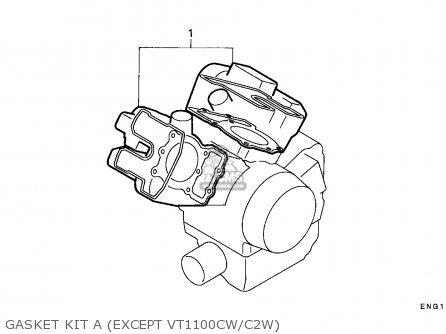 Honda VT1100C2 SHADOW 1997 (V) CANADA / RBM parts lists