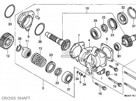 Honda Vt1100c2 Shadow 1997 (v) Spain parts list