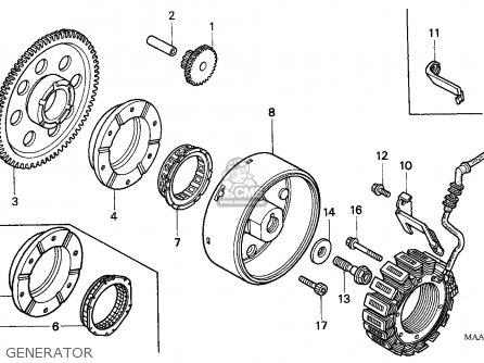 Honda VT1100C2 SHADOW 1998 (W) GERMANY / WHI parts lists