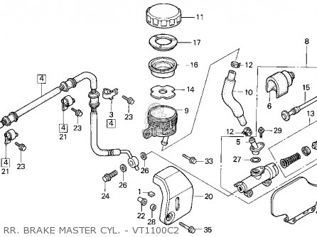 Honda VT1100C2 SHADOW ACE 1996 (T) USA CALIFORNIA parts