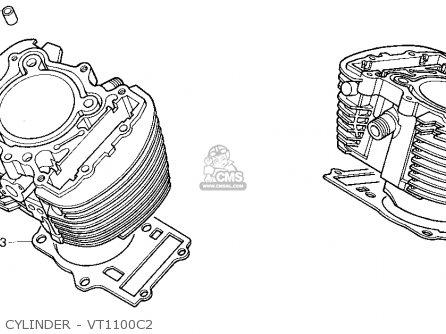 Honda VT1100C2 SHADOW ACE 1997 (V) USA CALIFORNIA parts