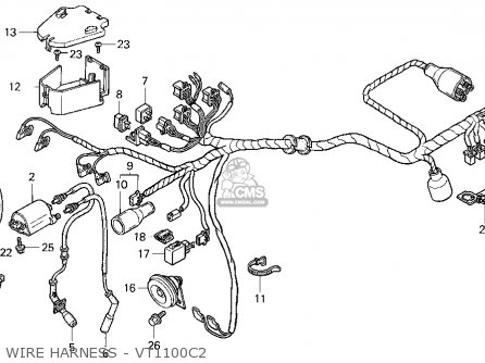 1986 Honda Shadow Vt1100c Wiring Diagram Honda Cr250r