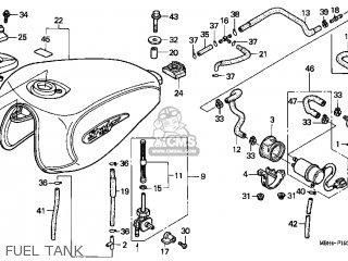 Honda Vt1100c3 Shadow Aero 1998 Usa parts list partsmanual