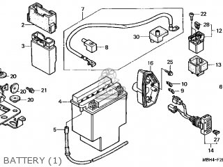 Honda Shadow Aero Battery Location Honda ST1300 Battery