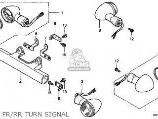 Honda VT1100C3 SHADOW AERO 1999 (X) USA parts lists and
