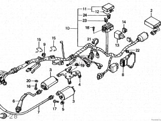 Honda VT250 SPADA 1988 (J) JAPAN MC20-100 parts lists and