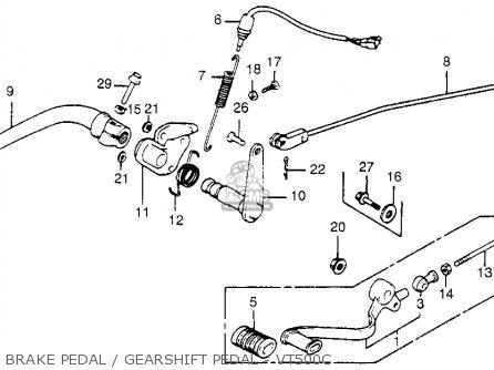 Honda Vt500c Shadow 500 1985 (f) Usa California parts list