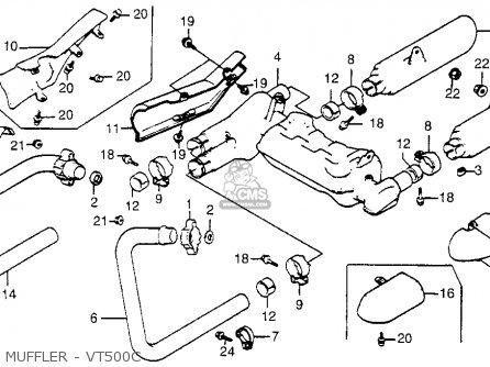 Honda VT500C SHADOW 500 1986 (G) USA CALIFORNIA parts