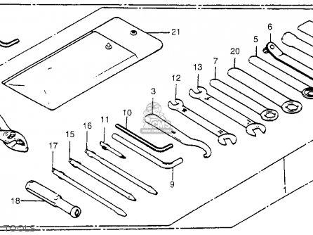 Honda Vt500c Shadow 500 1986 (g) Usa California parts list