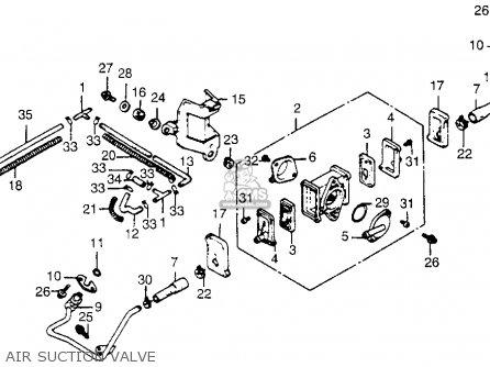 Honda Vt500c Shadow 500 1986 Usa parts list partsmanual
