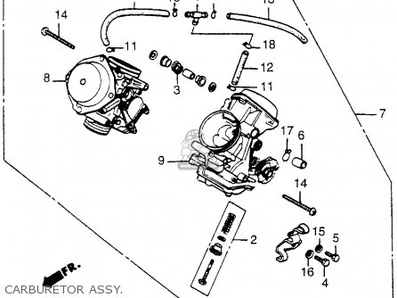 Honda VT500FT ASCOT 1983 (D) USA parts lists and schematics