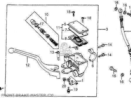 Honda Vt500ft Ascot 1983 (d) Usa parts list partsmanual