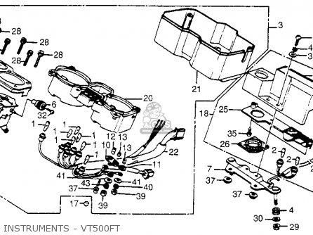 Honda Vt500ft Ascot 1984 (e) Usa California parts list
