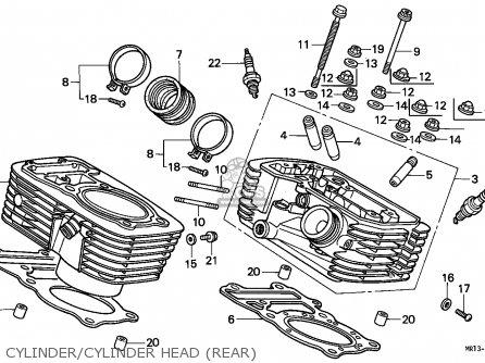 Honda Vt600c Shadow 1988 (j) Switzerland / Kph parts list