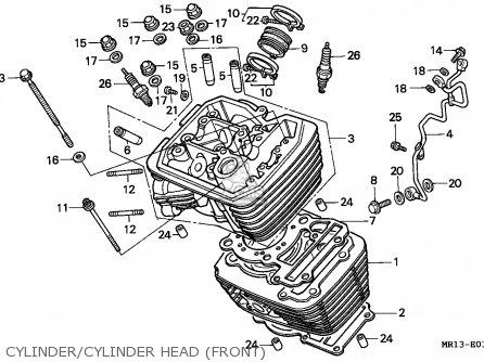Honda VT600C SHADOW 1992 (N) ITALY / KPH parts lists and