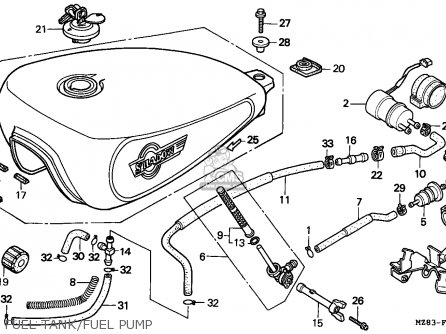 Honda Vt600c Shadow 1994 France / Kph parts list
