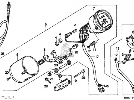 Honda VT600C SHADOW 1994 (R) FRANCE / KPH parts lists and