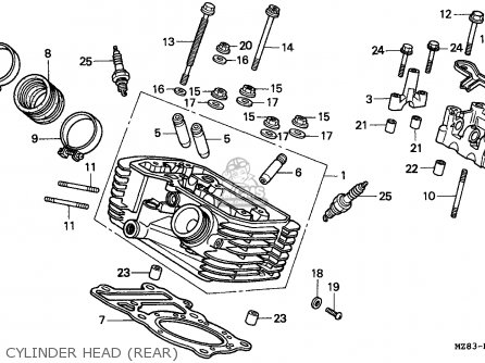 Honda VT600C SHADOW 1995 (S) GERMANY / KPH 34P parts lists