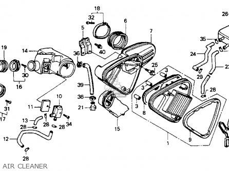 Honda Vt600c Shadow Vlx 1991 Usa parts list partsmanual