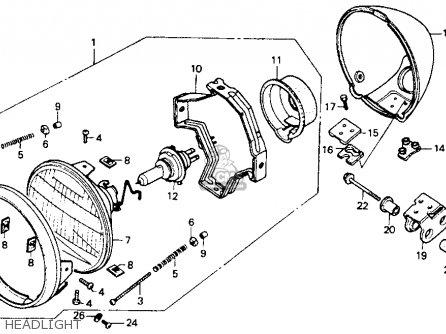 Honda Vt600c Shadow Vlx 1994 (r) Usa California parts list
