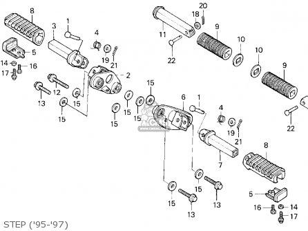 Honda Vt600c Shadow Vlx 1995 (s) Usa California parts list