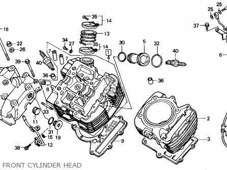 Honda Vt700c Shadow 1986 g Usa Front Cylinder Head