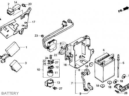 Honda Vt700c Shadow 1987 Usa parts list partsmanual partsfiche