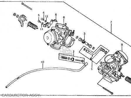 Honda VT750C SHADOW 1983 (D) USA parts lists and schematics