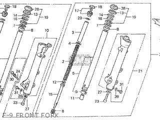 Honda VT750C SHADOW 1985 (F) parts lists and schematics