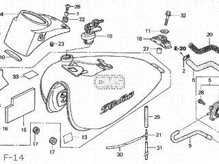 Honda VT750C SHADOW 2004 (4) JAPAN RC50-100.101.102 parts