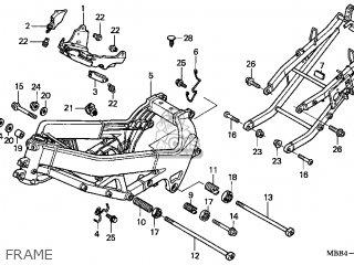 Honda Vtr1000f Super Hawk 1998 Usa parts list partsmanual