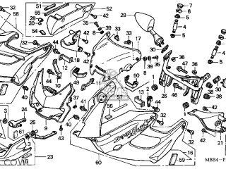 Honda VTR1000F SUPERHAWK 2001 (1) USA parts lists and