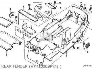 Honda VTR1000SP FIRESTORM 2001 (1) ENGLAND / MPH parts