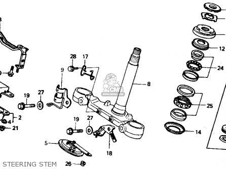 Honda VTR250 INTERCEPTOR VTR 1988 (J) USA parts lists and