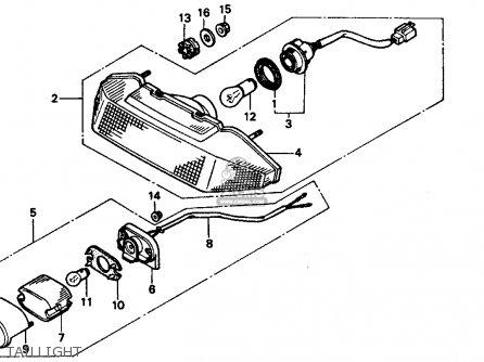 Honda VTR250 INTERCEPTOR VTR 1989 (K) USA parts lists and