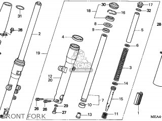 Honda VTX1300S 2005 (5) ENGLAND parts lists and schematics