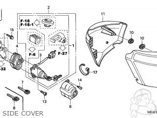 Honda VTX1300S 2007 (7) ENGLAND parts lists and schematics