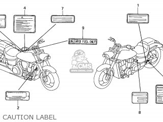 Honda VTX1800C 2002 (2) AUSTRALIA parts lists and schematics