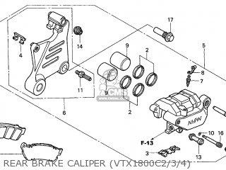 Honda VTX1800C 2002 (2) ENGLAND parts lists and schematics