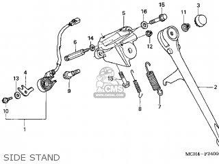 Honda VTX1800C 2004 (4) USA parts lists and schematics