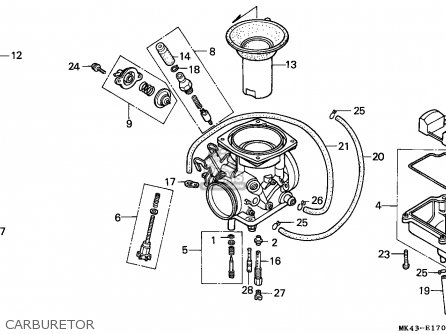 Honda Xbr500 1985 England parts list partsmanual partsfiche