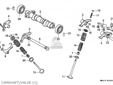 Honda Xbr500 1985 (f) Germany parts list partsmanual